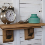 Rustic Craftsman Farmhouse Shelf | Country Design Style | countrydesignstyle.com