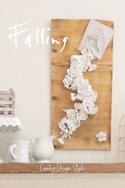 paint dipped flowers | Flower Sign | DIY Sign | Country Design Style