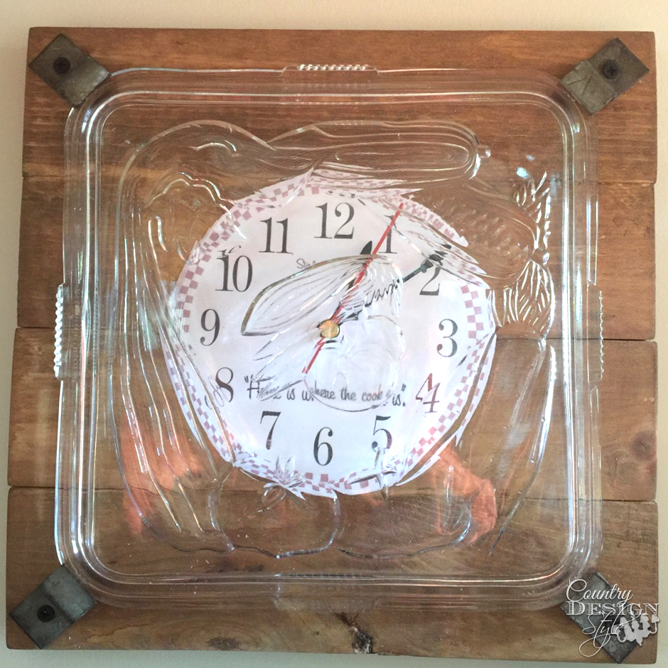 Bits and Pieces Clock SQ| Country Design Style | countrydesignstyle.com