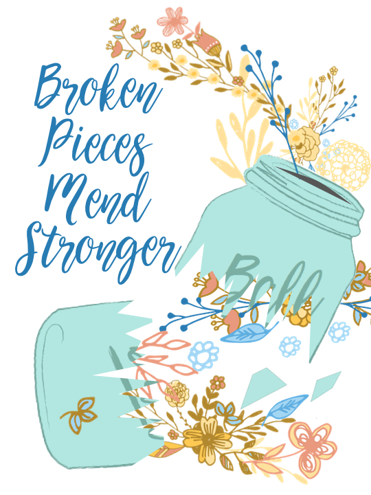Broken Pieces Mend Stronger | Country Design Style | countrydesignstyle.com