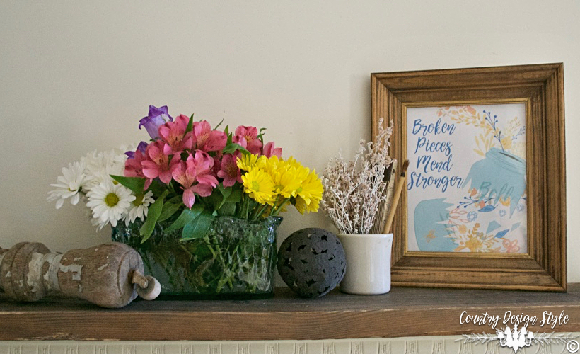 Broken Pieces Mend Stronger FP | Country Design Style | countrydesignstyle.com