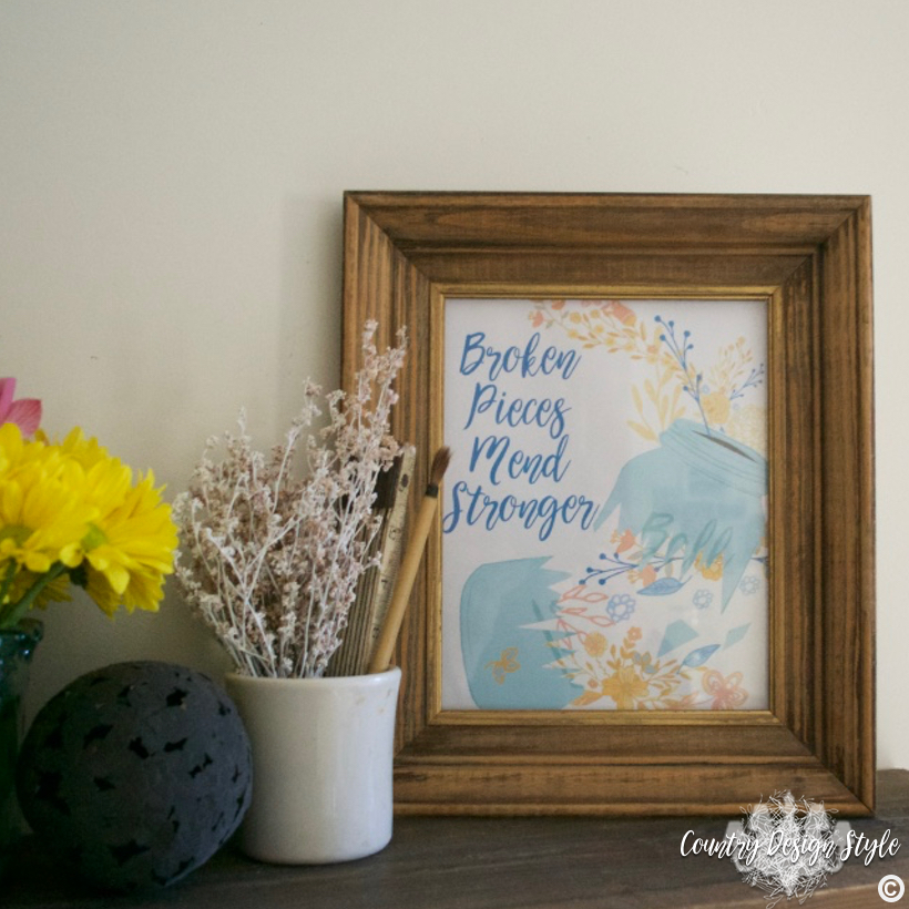 Broken Pieces Mend Stronger IG1 | Country Design Style | countrydesignstyle.com