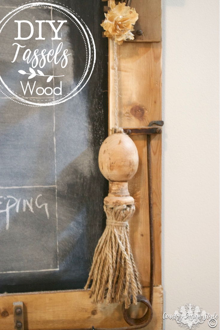 DIY Tassels made from finals and twine for rustic farmhouse style PN5   Country Design Style   countrydesignstyle.com