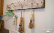 DIY Tassles made from finals and twine for rustic farmhouse style FP | Country Design Style | countrydesignstyle.com