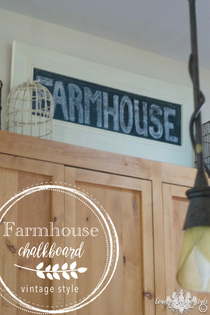 Farmhouse Chalkboard Sign | Country Design Style | countrydesignstyle.com