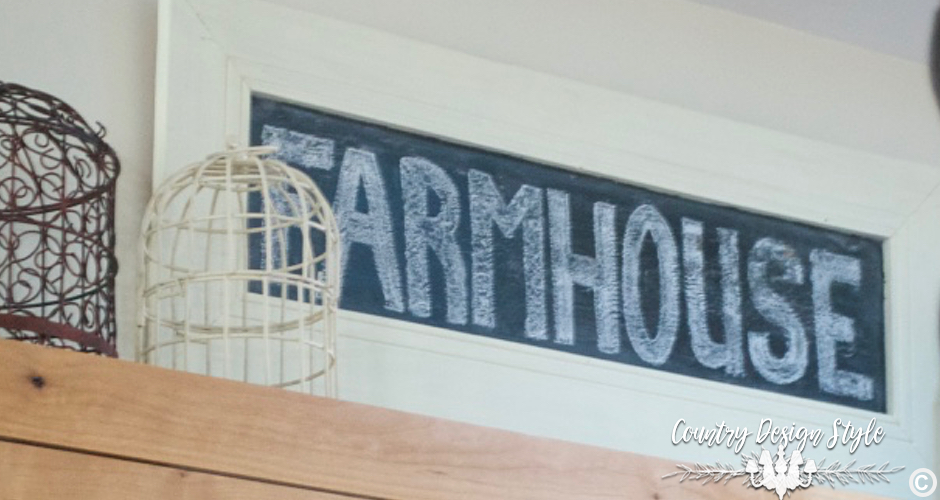 Farmhouse Chalkboard Sign Vintage Inspired | Country Design Style | countrydesignstyle.com