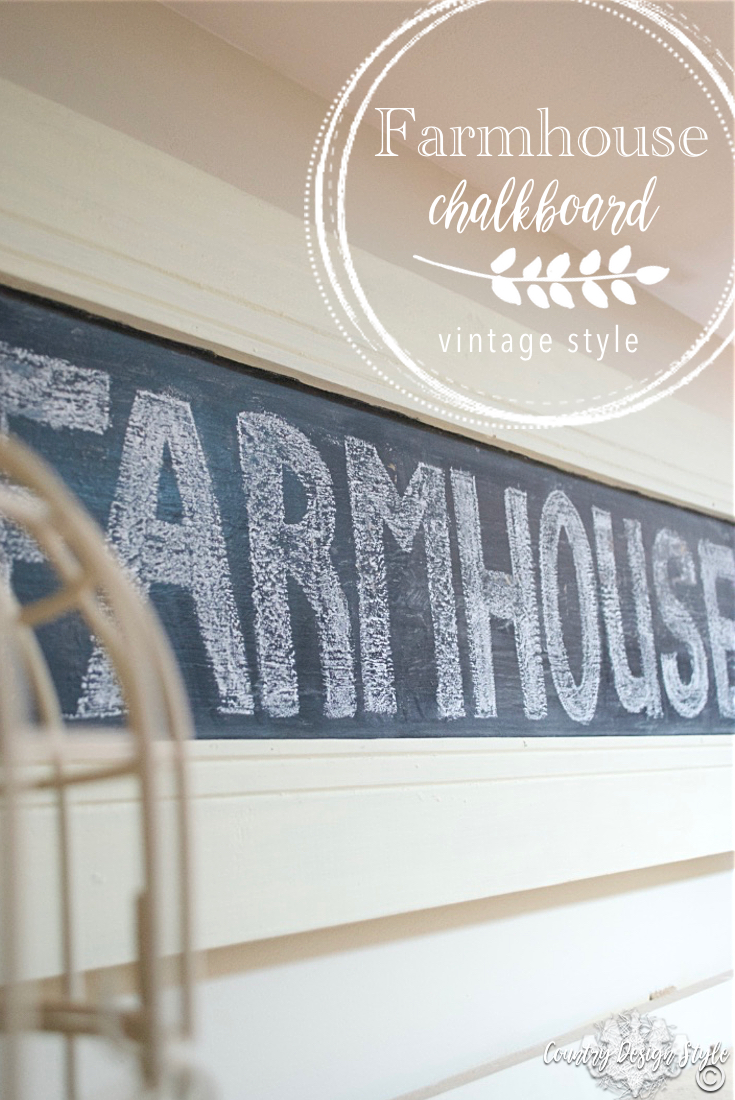 Farmhouse Chalkboard Sign pin | Country Design Style | countrydesignstyle.com