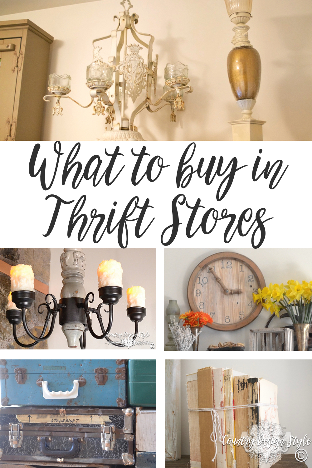 what to buy in Thrift Stores | Country Design Style | countrydesignstyle.com