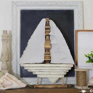 DIY-Sailboat Decor SQ | Country Design Style | countrydesignstyle.com