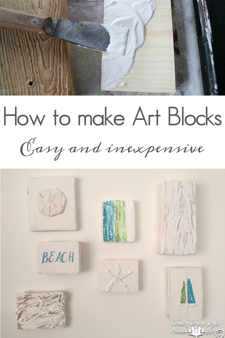 How to make Art Blocks | Country Design Style | countrydesignstyle.com