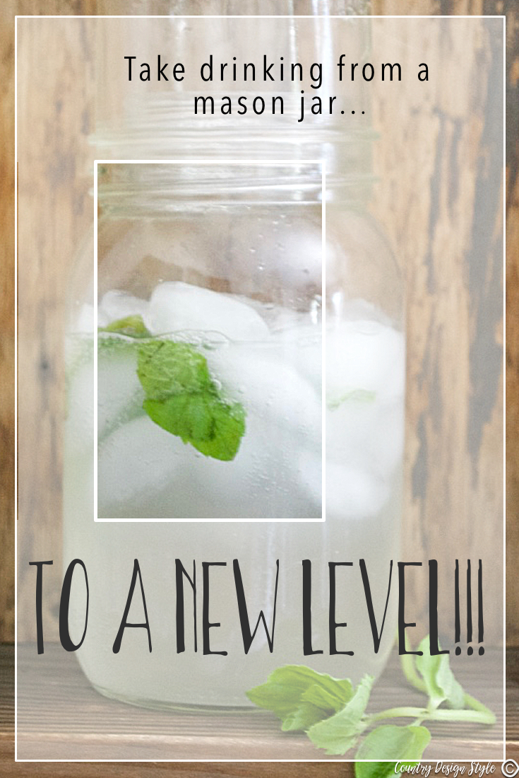Mason Jar Drink Idea PN2 | Country Design Style | countrydesignstyle.com