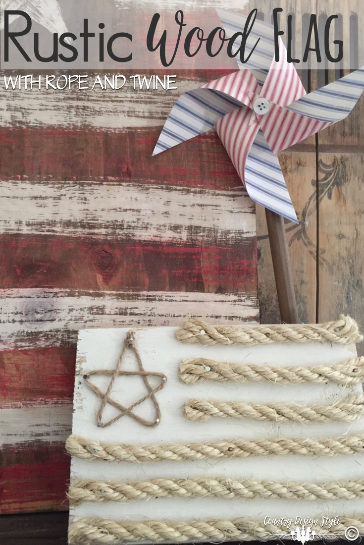 Rustic-wood-flag-with-twine   Country Design Style   countrydesignstyle.com