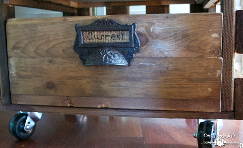 Crate-Side-Table-bottom-drawer | Country Design Style | countrydesignstyle.com