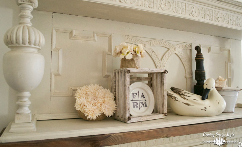 DIY-faux-mantel-wtih-extra-top | Country Design Style | countrydesignstyle.com