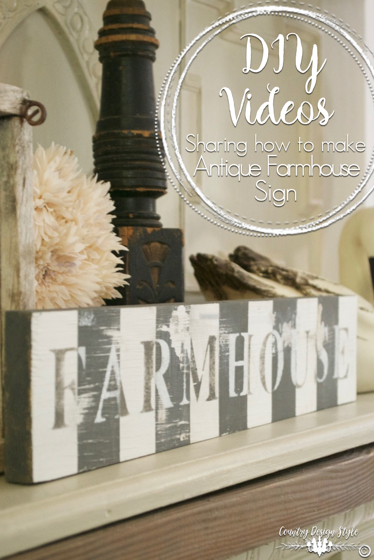 DIY-videos-sharing-antique-farmhouse-sign | Country Design Style | countrydesignstyle.com