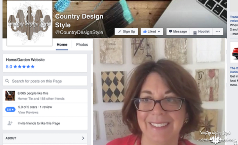 Facebook-live-DIY-videos | Country Design Style | countrydesignstyle.com