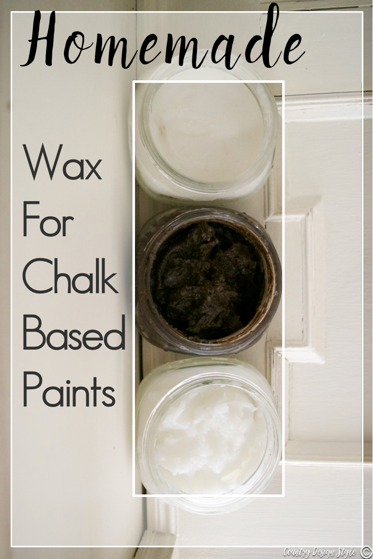 Homemade-Wax-for-chalk-based-paint-tutorial | Country Design Style | countrydesignstyle.com