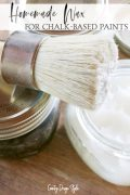 Make your own wax for chalk based paints