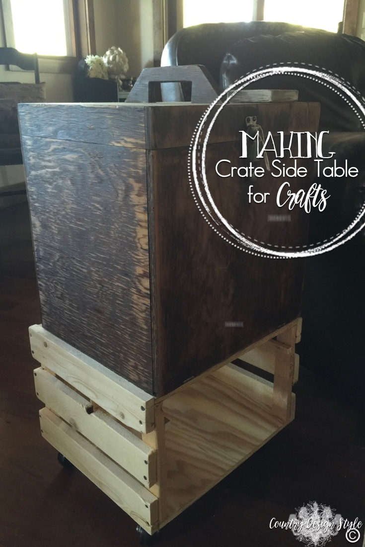 Making-Crate-Side-Table | Country Design Style | countrydesignstyle.com