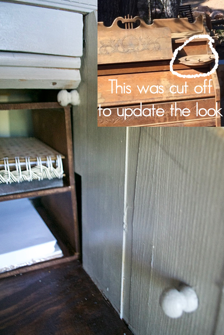 Pump-organ-makeover-to-update | Country Design Style | countrydesignstyle.com