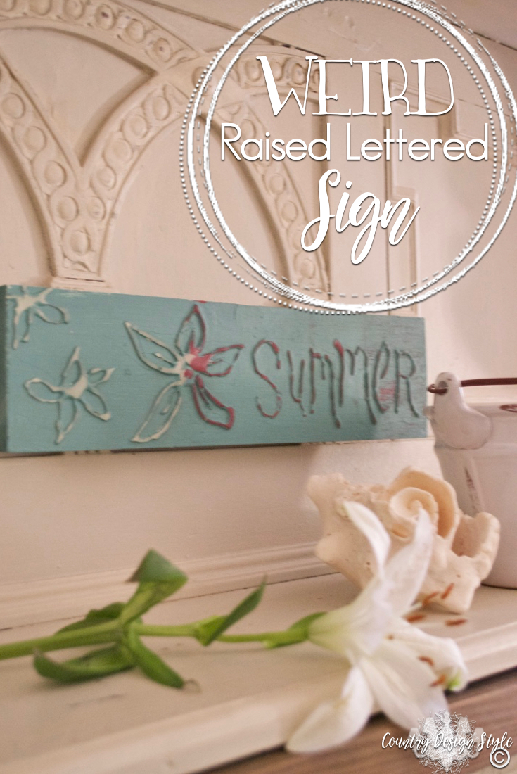 Weird-raised-lettered-sign | Country Design Style | countrydesignstyle.com