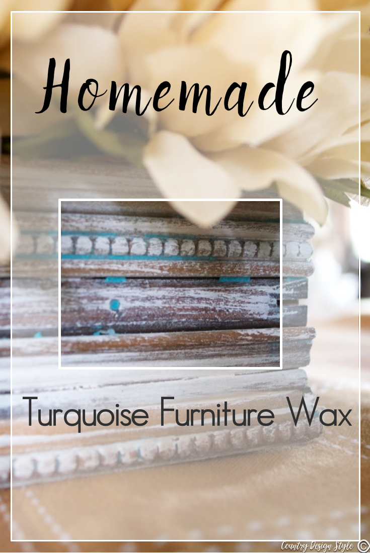 Handmade-furniture-wax-turquoise-for-pinning | Country Design Style | countrydesignstyle.com