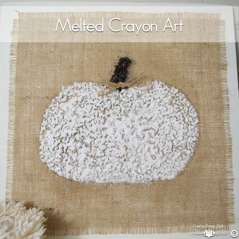 Melted-crayon-art-display | Country Design Style | countrydesignstyle.com