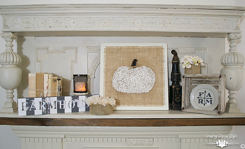 Melted-crayon-art-mantel   Country Design Style   countrydesignstyle.com