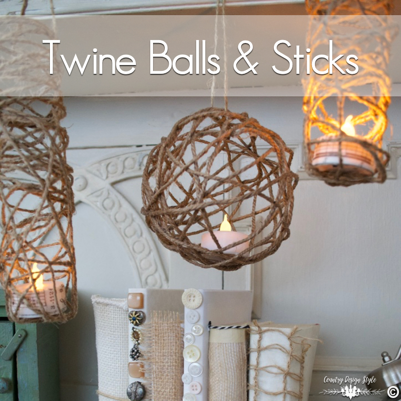 Twine-balls-DIY-and-sticks | Country Design Style | countrydesignstyle.com