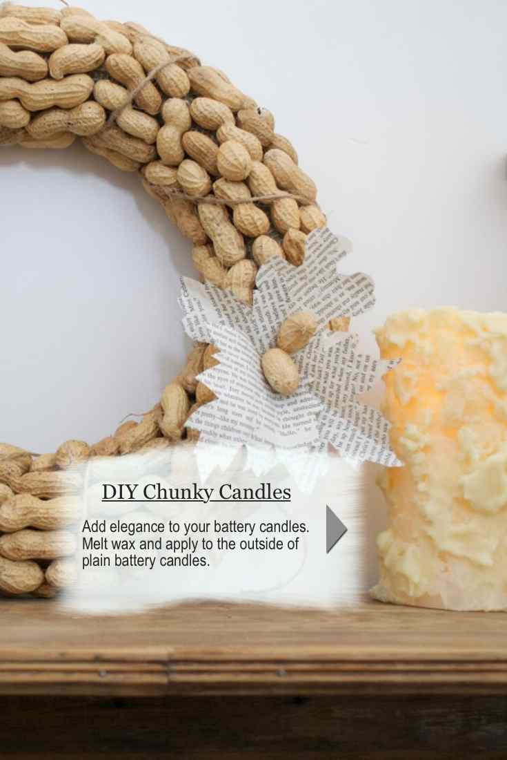 diy-peanut-wreath-with-chunky-candle-country-design-style-countrydesignstyle-com
