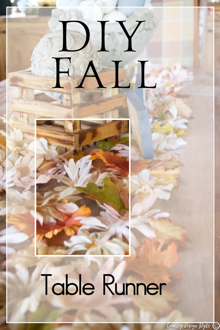 Diy Fall Table Runner Pin Country Design Style