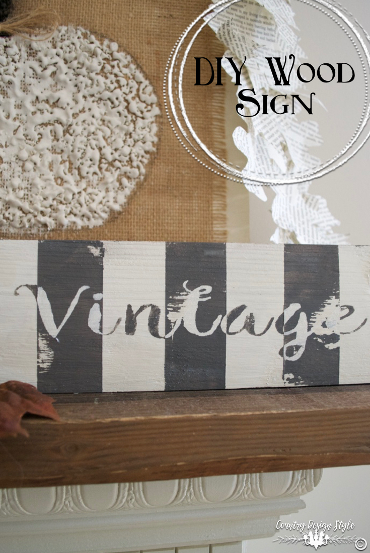DIY-wood-signs-striped-gray-white | Country Design Style | countrydesignstyle.com