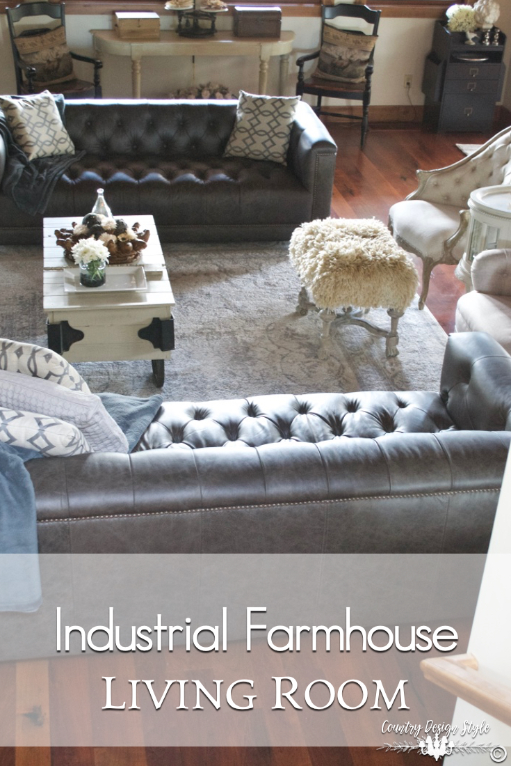 Industrial Farmhouse Living Room Country Design Style