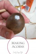 Making acorns circle