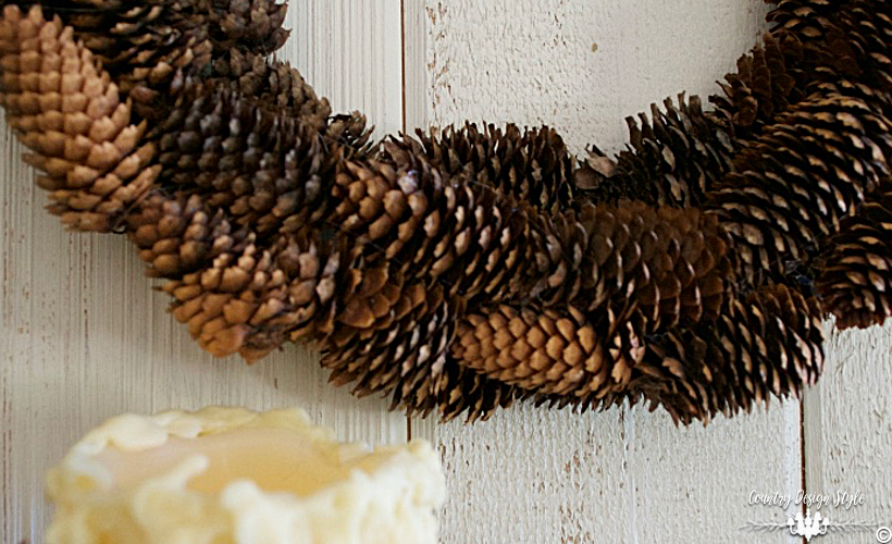 How To Make A Pine Cone Wreath Fast Country Design Style