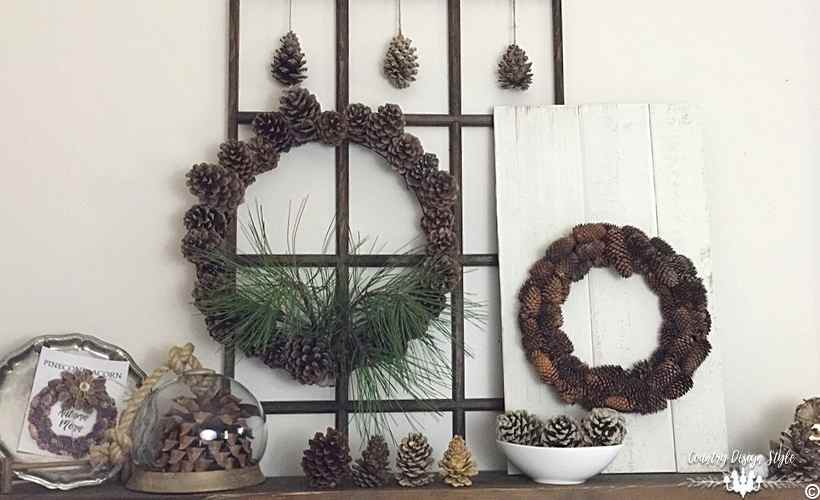 Blooming Pine Cone Wreath