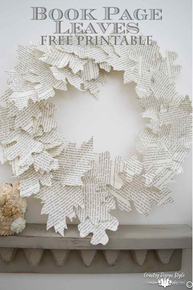 book-page-leaves-wreath-country-design-style-countrydesignstyle-com
