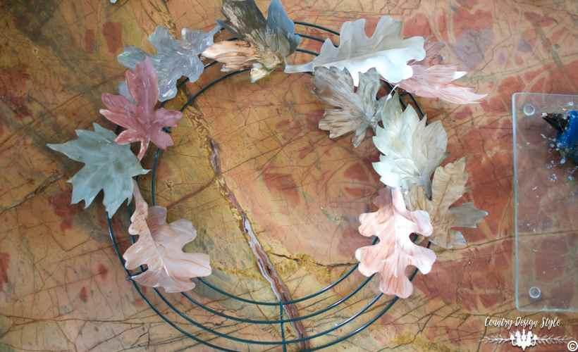 diy-metal-leaves-hot-glued-country-design-style-countrydesignstyle-com