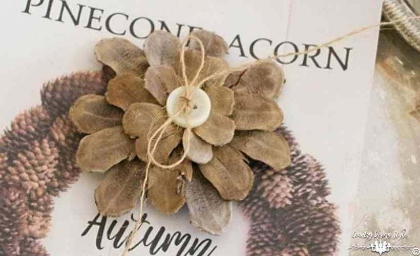 DIY Pine Cone Flower