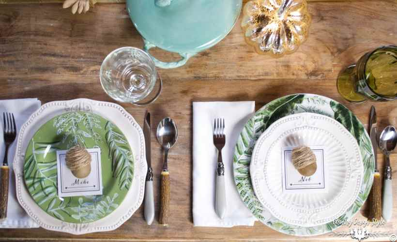 Diy Dinner Party Ideas Part - 21: Diy-dinner-party-ideas-layered-plates-country-design-