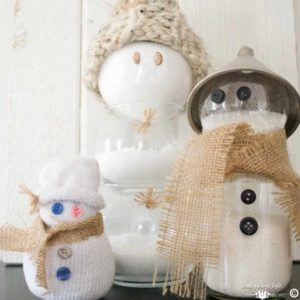 winter-craft-dollar-store-snowmen-family-country-design-style-countrydesignstyle-com