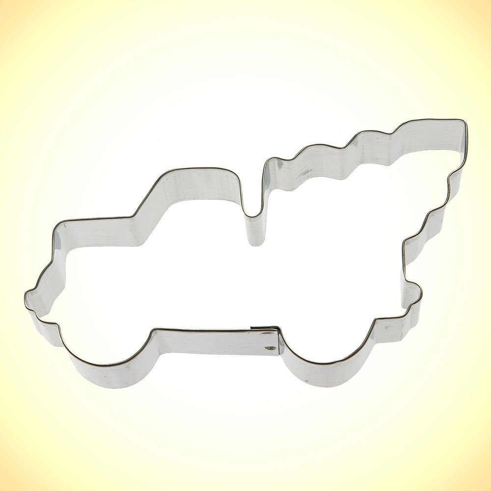 Pickup with tree cookie cutter