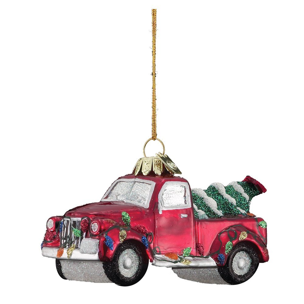 Red pickup ornament