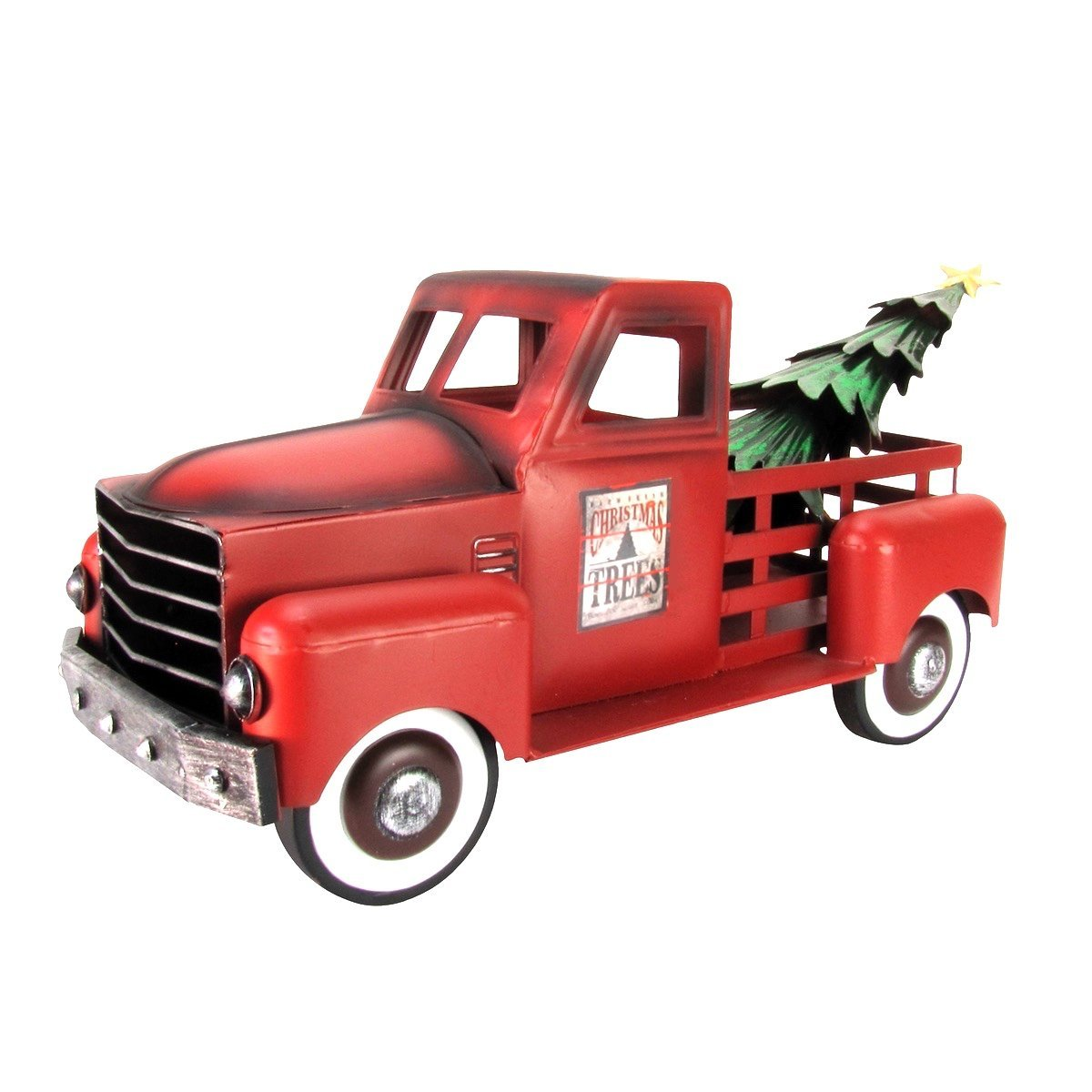 Free Christmas Tree Pick Up: Red Pickup With Christmas Tree Gift To You