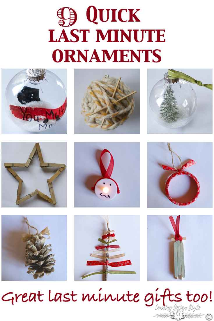 9 last minute ornaments | Country Design Style | countrydesignstyle.com