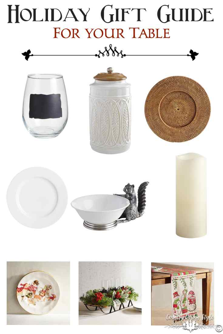 Holiday gift guide for your table country design style - Table gifts for christmas ...