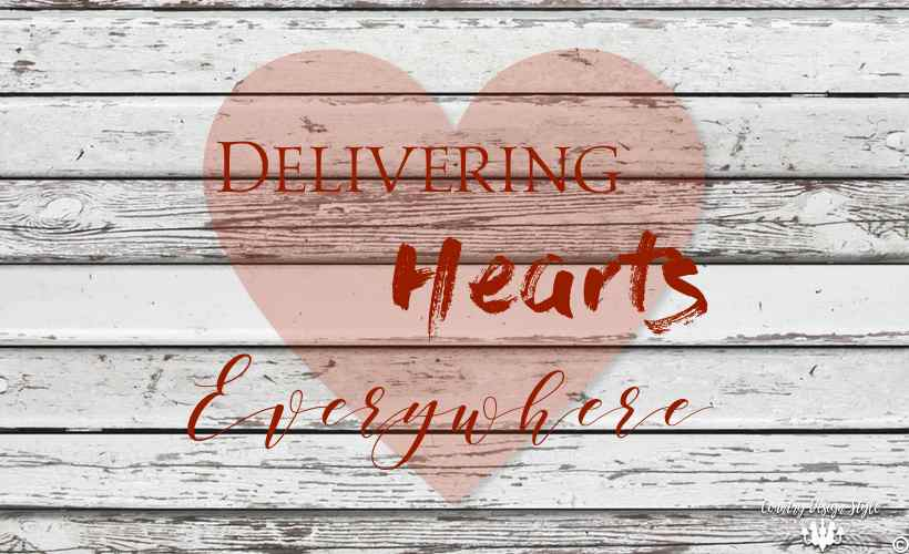 Delivering Hearts Main | Country Design Style | countrydesignstyle.com