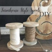 Farmhouse Style Spools DIY Square | Country Design Style | countrydesignstyle.com