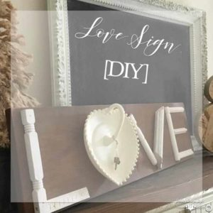 Love Sign [DIY] SQ | Country Design Style | countrydesignstyle.com
