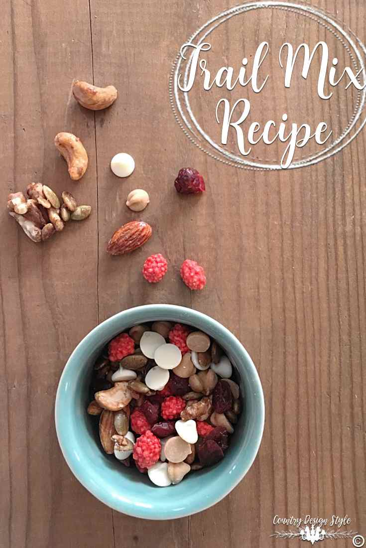 Trail Mix Recipe for pinning | Country Design Style | countrydesignstyle.com